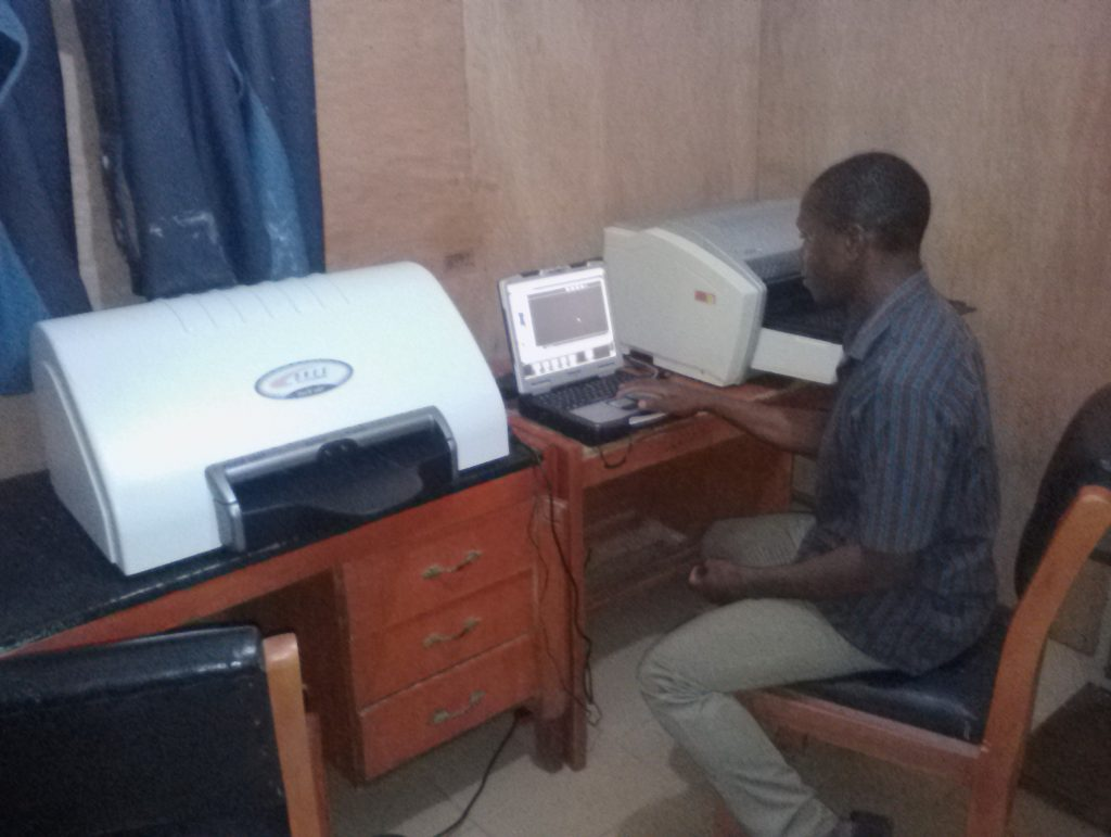 Installation of  Computed Radiographic (CR) Machine and Printer at Ekpoma, Edo State, Nigeria.