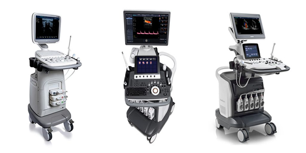 DIFFERENT TYPES OF TROLLEY ULTRASOUND MACHINES